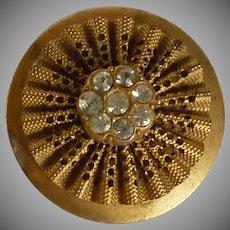 Gorgeous Metal Button with Rhinestones