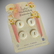 Lady Washington White buttons on Card