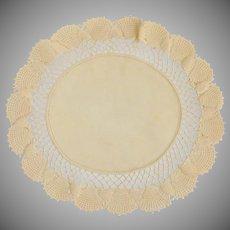 Crème Tan Crochet Doily