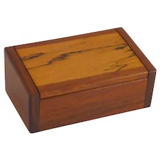 Beautiful Small Walnut & Splatted Maple Box