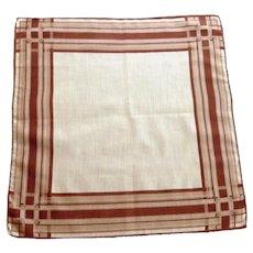 Large Mid-Century Male Handkerchief