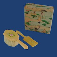 1950's Binky Toy Baby Brush and Comb