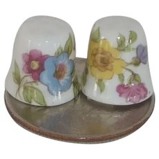 Miniature Ceramic Flower Thimbles