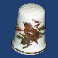 Mayflower China Bird White Thimble