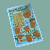 Story of Irish Whiskey Souvenir Tea Towel