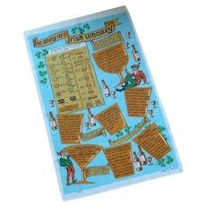 Story of Irish Whiskey Souvenir Tea Towel
