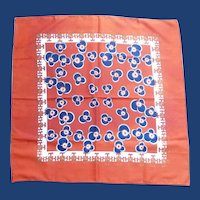 Orange Blue Flowers Water Repellent Scarf