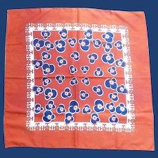 Orange Blue Flowers Water Repellent Scarf