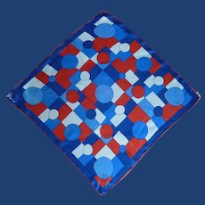 Vera Red White and Blue Silk Scarf