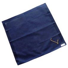 Lehner Initial L Navy Blue Handkerchief