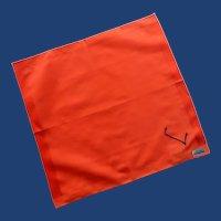 Lehner Initial L Orange Red Handkerchief