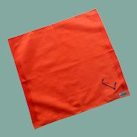 Lehner Initial L Orange Red Handkerchief