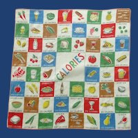 Bright Calories Vitamins Handkerchief Hanky