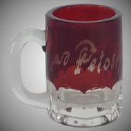 Ruby Red Shot Glass 1930's