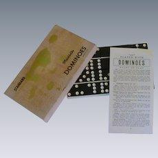 Black Marblelike Dominoes Game Set / Box