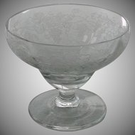 Sherbet Grape Pattern Etched Glass