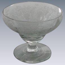 Sherbet Grape Pattern Etched Glass