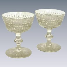 Beautiful Glass Champagne or Tall Sherbet Crystal