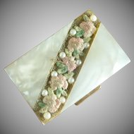 Mother of Pearl Rectangular Powder Compact