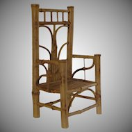 Bamboo Miniature Doll / Display Chair