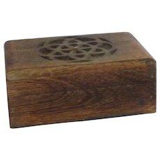 Hand Carved Celtic Design Wooden Box