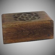 Hand Carved Celtic Design Wooden Box