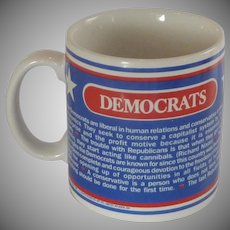 Democrats Convention Prayer Pottery Coffee Mug