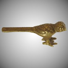 Brass Roadrunner Like Bird with Long Tail