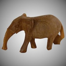 Hand Carved Small Wooden Elephant