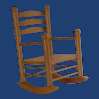 Wood Rocking Chair for Doll or Teddy Bear