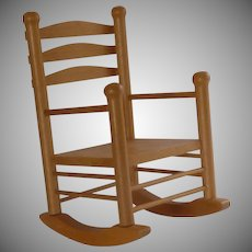 Wood Rocking Chair for Doll or Teddy Bear