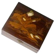 Indian Persian Girl Playing Sitar Wooden Box