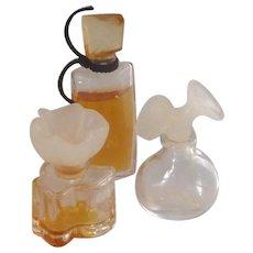 Three Miniature Perfume Bottle Bottles