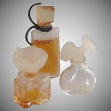 Three Miniature Perfume Bottle Bottles