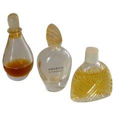 Three Miniature Perfume Bottles Bottle