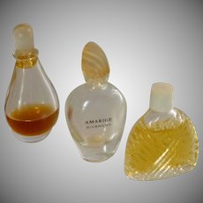 Three Miniature Perfume Bottles Bottle