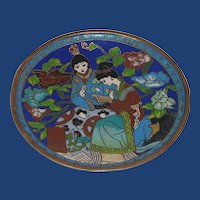 Lovely and Unusual Cloisonne Trinket Dish