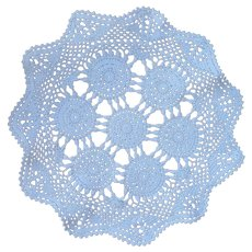 White Lace Like Crocheted Round Doily