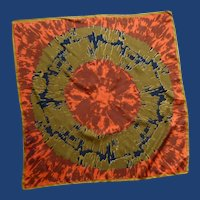 Vera Orange, Black and Gold Silk Scarf