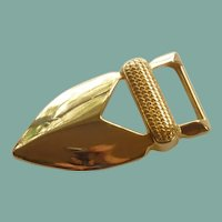 Gold Plate Pointed Belt Buckle