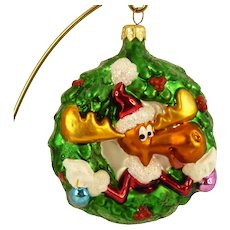 Christopher Radko Bullwinkle Glass Ornament