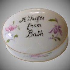 Floral Staffordshire White Bone China Trinket Dish