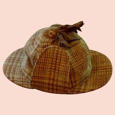 Sherlock Holmes Deerstalker Wool Hat