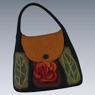 Rising Tide Felted Black Hand Bag