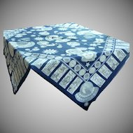 Navy Blue Large Planet Astrology Scarf / Shawl