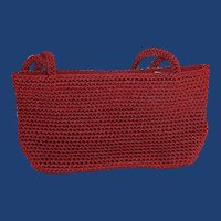 The Sak Red Crochet Evening Purse Bag