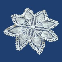 Large Hand Crocheted Ecru Doily