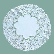 Pretty Delicate White Linen Doily