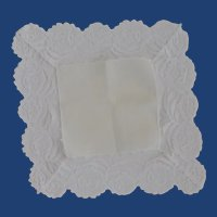 White Lace Wedding Handkerchief Hankie
