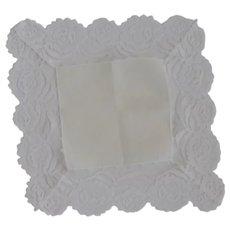 White Lace Wedding Handkerchief Hankie